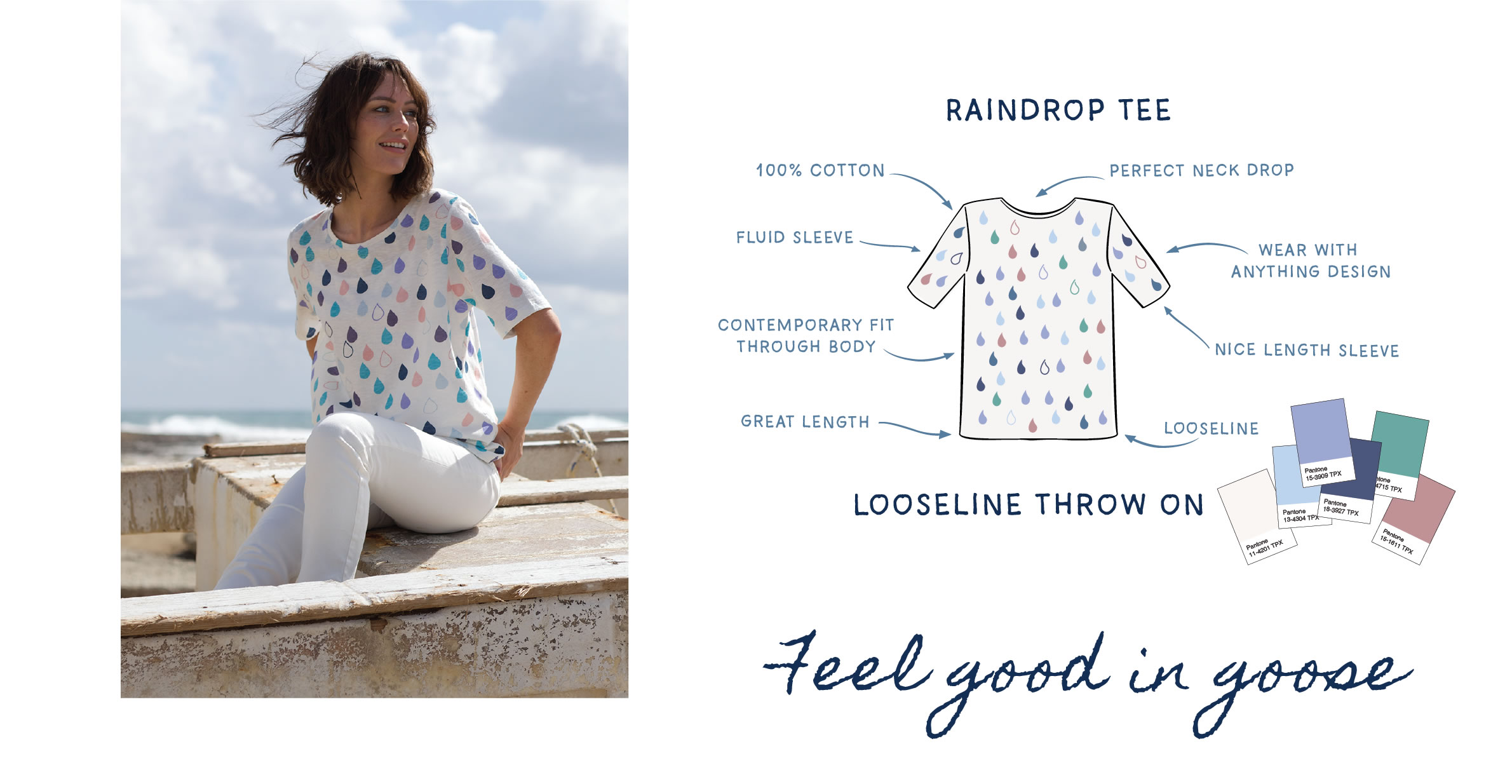 Raindrops Cotton Tee